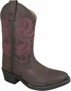 Smoky-Mountain-Distress-amp-Square-Toe-Western-Cowboy-Boot-1-Little-Kids-Brown