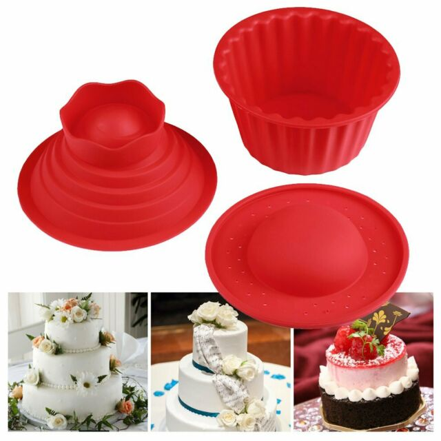 Red Giant Big Silicone Cupcake Cake Mould Top Cupcake Bake Baking Mold ZX