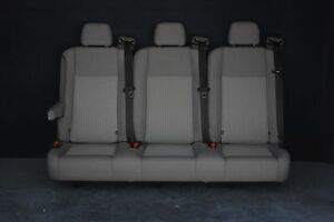 2015 Ford Transit Van 3 Person Bench Seat In Gray Cloth