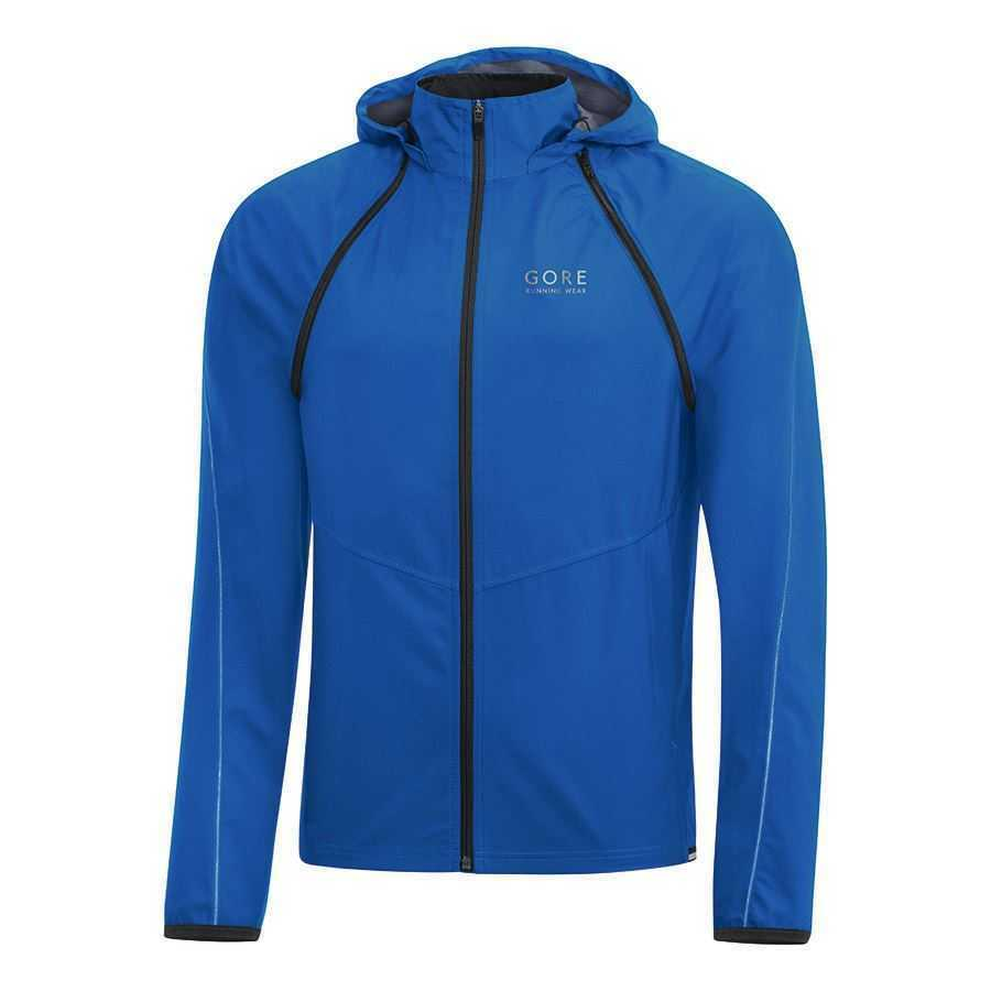 GIUBBINO GORE RUNNING ESSENTIAL ZIP-OFF BLU tg. L