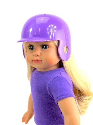 Purple Baseball//Softball Batting Helmet 18 in Doll Clothes Fits American Girl