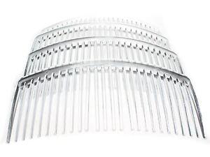 4-Pack-9cm-Clear-Plain-Side-Hair-Combs-Slides-Grips-Hair-Accessories