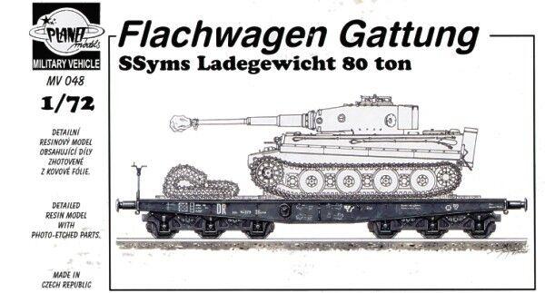 Planet 1 72 Flachwagen Gattung Ssyms Ladegewicht 80 ton  MV048