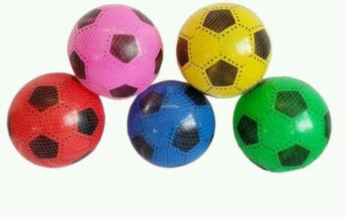 "20 pcs PVC PLASTIC FOOTBALLS 8.5"" FLAT PACKED UNINFLATED WHOLESALE JOBLOT"