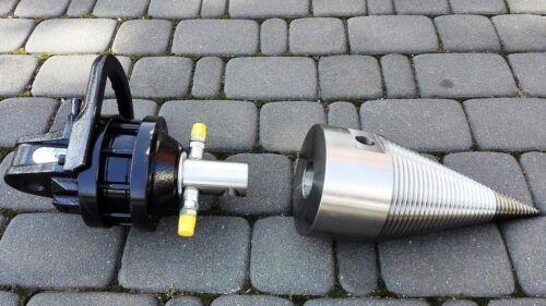 120mm Drillkegel Kegelspalter mit 3T FINN Rotator CR300 im Set komplett NEU