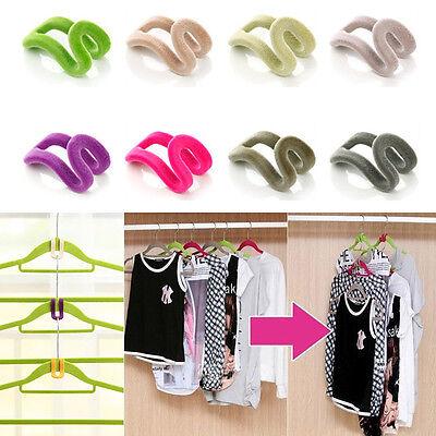 Home Creative Mini Flocking Clothes Hook Closet Organizer 10pcs