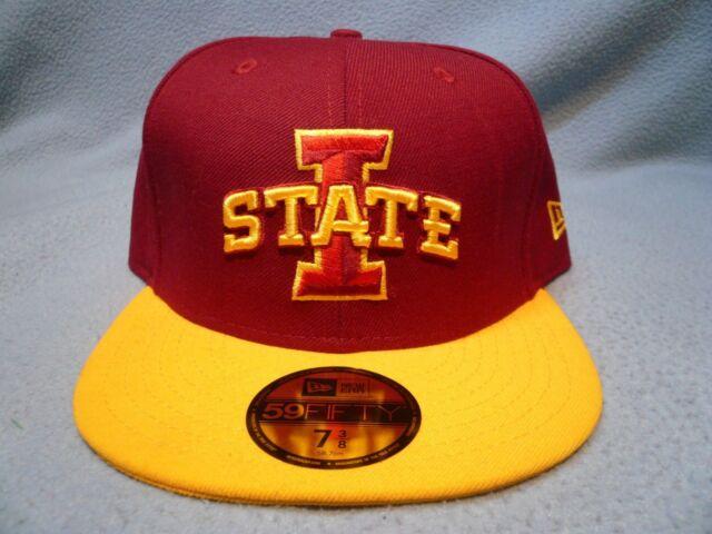 best website ebd21 a439c New Era 59fifty Iowa State Cyclones Fitted BRAND NEW cap hat ISU Football 2- tone
