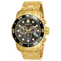 Invicta 80064 Men's Pro Diver Gold Plated Steel Chrono Dive Watch