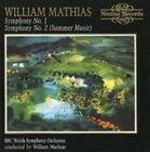 Mathias William BBC Welsh Symphony Orchestra Sinfonien 1 2 CD Album