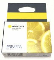 2 Pk Primera Ink Cartridge 53424 Yellow For Lx900 Color Label Printer
