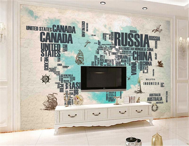 3D Letter Map Pattern 82 Wallpaper Mural Paper Wall Print Wallpaper Murals UK