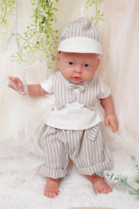 """Holiday Gifts IVITA 16/"""" Silicone Reborn Baby Doll Boy Accompany Baby+Clothes"""