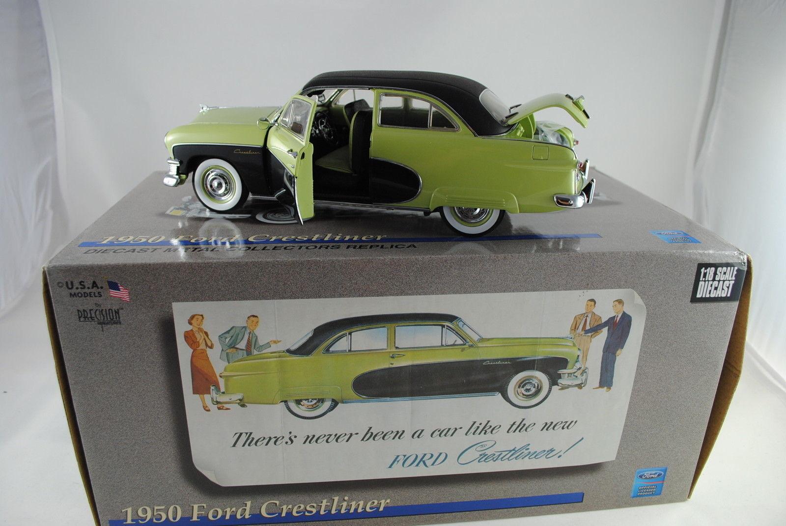 1 18 Precision miniatures  pmus - 02g - 1950 ford Crestliner sportsman verde