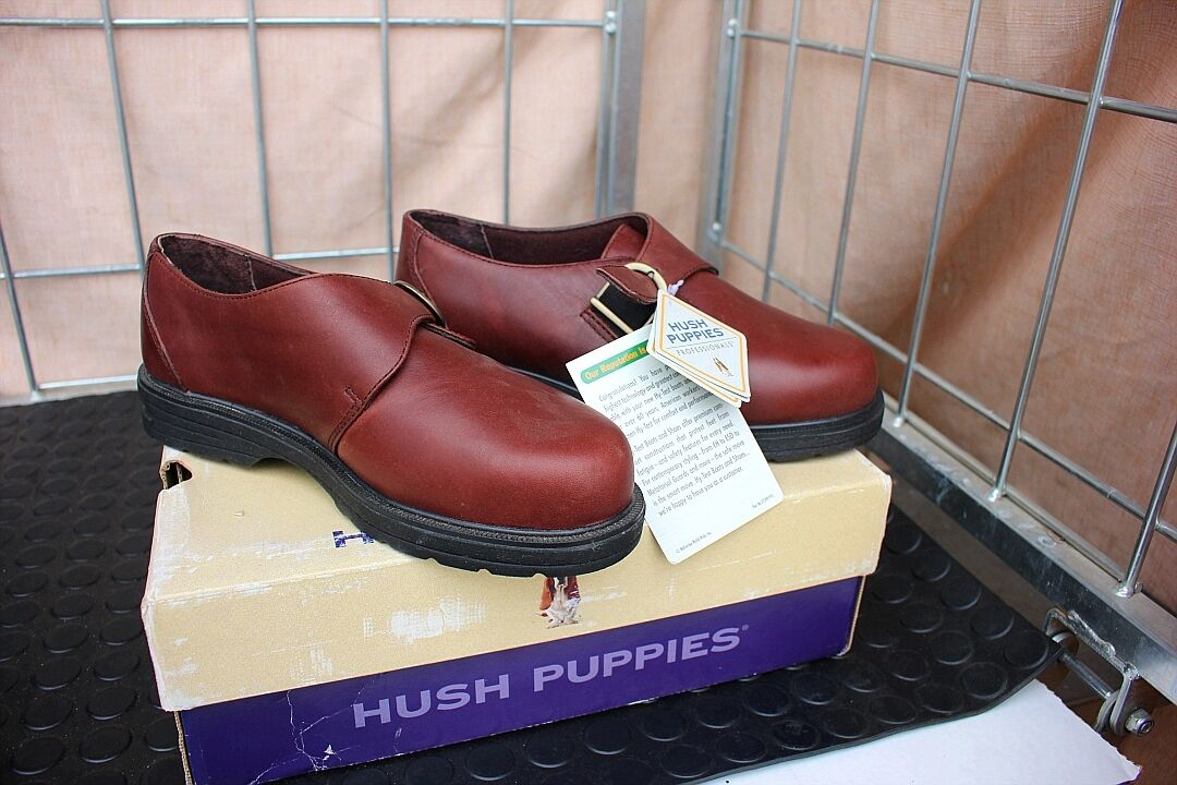 29-72 Damenschuhe 7.5 M   Hush Puppies Professional steel toe penny loafer