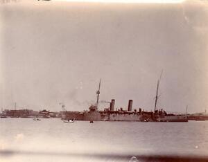 HMS-Guardship-at-Shanghai-China-Naval-Photo-1906-7-NOT-Postcard