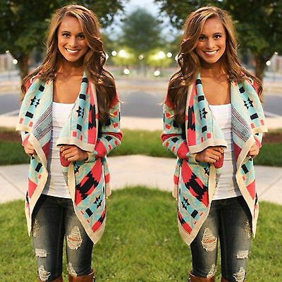 New Women Long Sleeve Knitted Cardigan Ladies Casual Sweater Coat Outwear Jacket