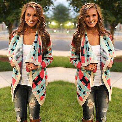 Women Long Sleeve Knitted Cardigan Blouse Top Kimono Sweater Coat Outwear Jacket
