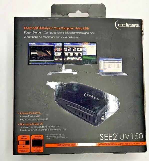 LOT 2 Eclipse SEE2 UV150 USB to VGA External Video Card by Mad Catz PC Windows