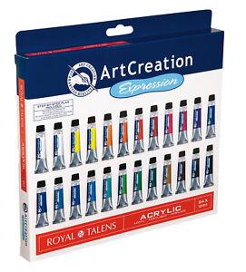 24-Tuben-ACRYLFARBE-Kuenstlerfarben-Acrylfarben-Set-Royal-Talens-Artcreation