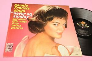 CONNIE-FRANCIS-LP-NEVER-ON-SUNDAY-ORIG-US-039-60