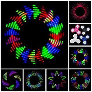 Fidget Spinner LED Light Up Glow Pattern Hand Finger Stress Relief Toy EDC Rave