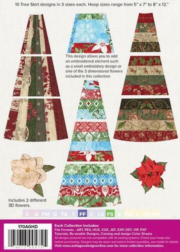 Christmas Tree Skirt Anita Goodesign Embroidery Machine Design CD NEW 170AGHD