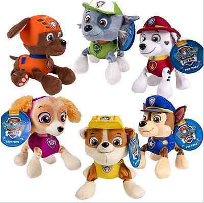 "Paw Patrol Pup Pals 8"" Skye Zuma Rocky Marshall Kids Gift Soft Plush Toy Dog"