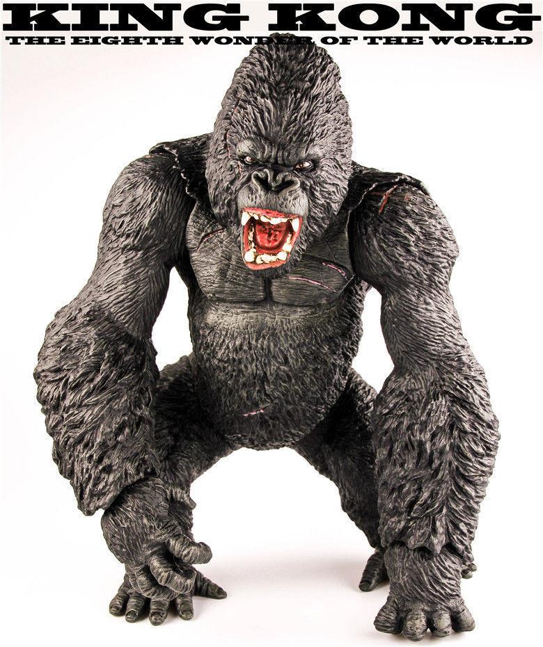 Nouvelle grande taille 14  King Kong gorille squelette île figure statue modèle