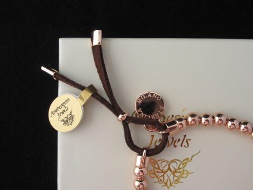 Original Sterlina Milano beaded//toggle bracelet//bangle silver//rose oro tono ajmk