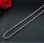 feine-Silberkette-duenne-2MM-Kordelkette-50cm-Edelstahl-Panzerkette-Damen-Herren Indexbild 2