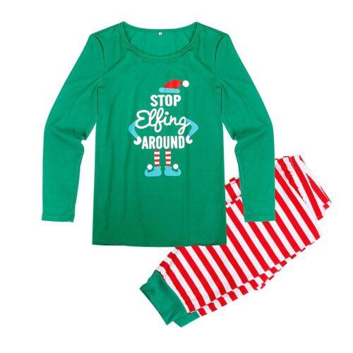 Family Christmas Pajamas Set Xmas Matching Pyjamas Adult Kids Baby Sleepwear NEW