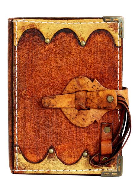 Bridge Strap Lock Refillable Leather Journal / Diary / Lock / Brown Notebook