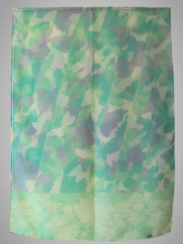 kleine Schmetterling Damen Frühling Sommer Schal Loop Tuch Halstuch grün
