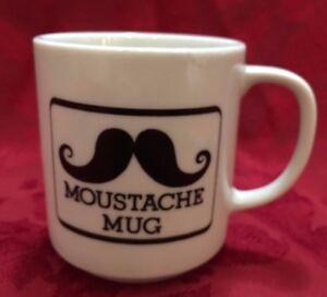 Mustache Mustache Cup Shaving Mug White Black Vintage Ebay