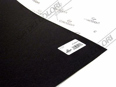 CANSON COLORLINE - 50x70cm - 220 g/mq - COLORE 38 NERO - 2 FOGLI