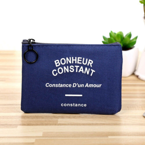 1 of 1 - Hot Unisex Card Key Mini Purse Pouch Canvas Bag Small Zipper Coin Holder Wallet