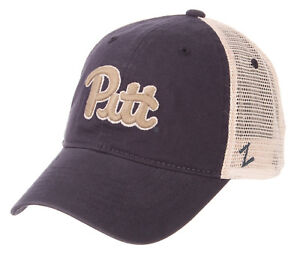 PITTSBURGH-PITT-PANTHERS-NCAA-2-TONE-MESH-TRUCKER-SNAPBACK-Z-WASHED-CAP-HAT-NWT