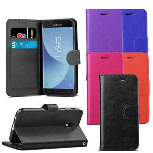 Pour-Samsung-Galaxy-J3-2017-J330-Premium-Portefeuille-En-Cuir-Flip-Case-Cover