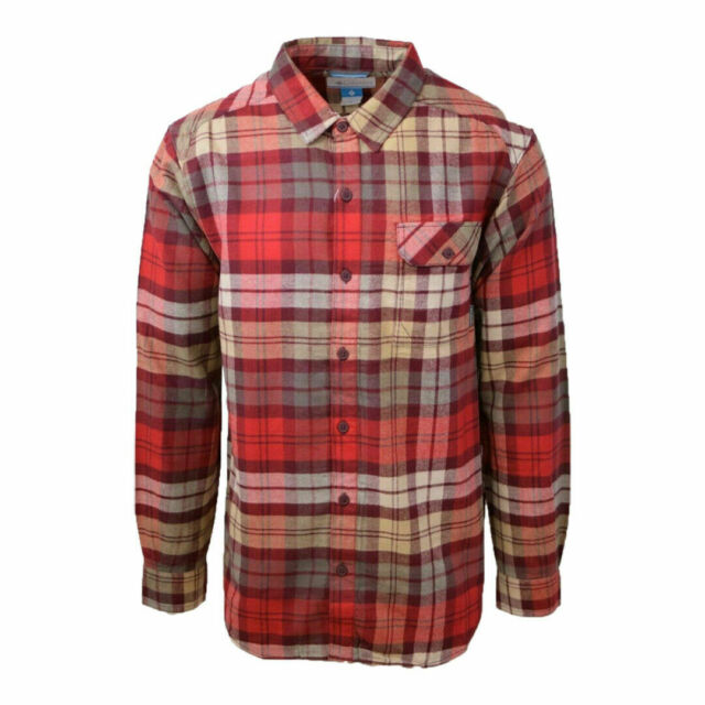 Columbia Men's Weston Pass Red Plaid L/S Flannel
