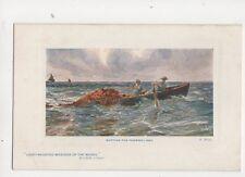 R West Setting The Trammel Net [Tuck 9734] Fisher Life Vintage Art Postcard 265b