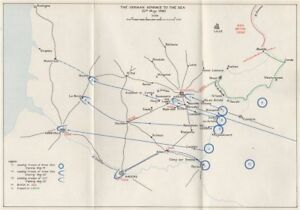 Map Of France 1940.Fall Of France 1940 German Advance To The Sea 20 May Arras
