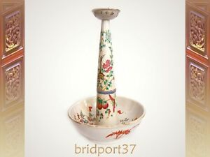 Late-19thC-famille-rose-Chinese-Oil-Lamp-29-5cm-tall