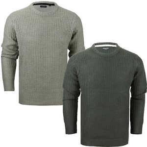 Mens Sweatshirt V Neck Jumper Brave Soul Knitted Pullover Warm Winter Sweater