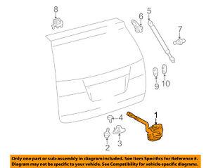 OEM TOYOTA SIENNA POWER REAR HATCH DOOR LOCK ASSEMBLY WITH MOTOR  69110-08020