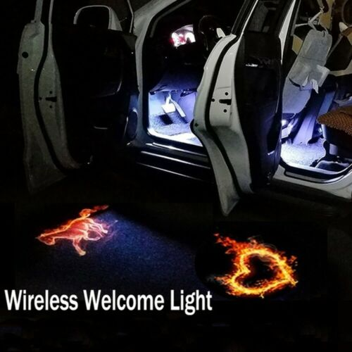 Wireless Welcome Light LED Door Step Courtesy Light Laser Shadow Projector