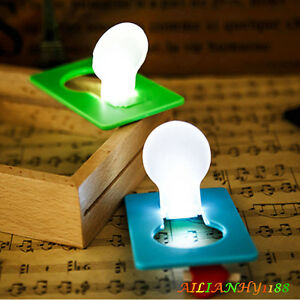 colorful slice cute pocket wallet credit card size led night light lamp bulbs hy ebay. Black Bedroom Furniture Sets. Home Design Ideas