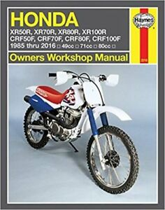 haynes workshop service repair manual book honda xr50r xr70r xr80r rh ebay com au honda xr100r service manual download 2002 honda xr100r owners manual