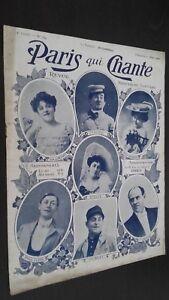Rivista Settimanale per Lettera Parigi Che Canta N° 164 Mars 1906 ABE