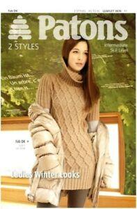 Patons-3876-Fab-DK-leaflet-Ladies-Winter-Looks-knitting-patterns
