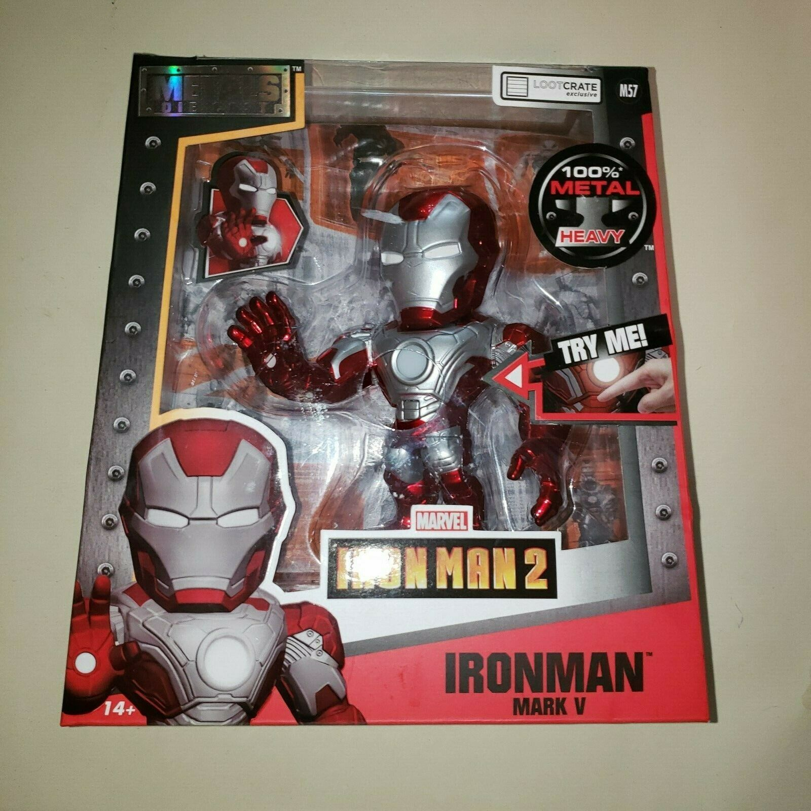 Loot Crate DX Exclusive 6  Light Up Iron Man Mark V Die-cast Figure Marvel POWER